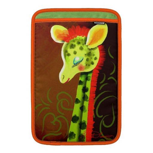Funky Bright Yellow Giraffe Sleeve For MacBook Air