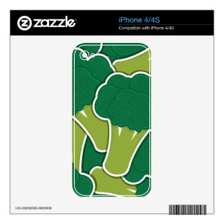 Funky broccoli decal for the iPhone 4