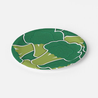 Funky broccoli paper plate