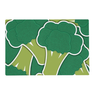 Funky broccoli placemat