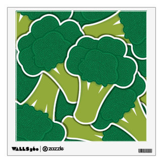 Funky broccoli wall sticker