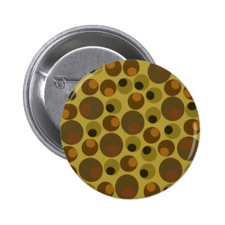Funky Brown dots Button
