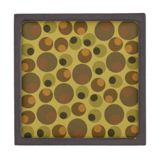 Funky Brown dots Jewelry Box