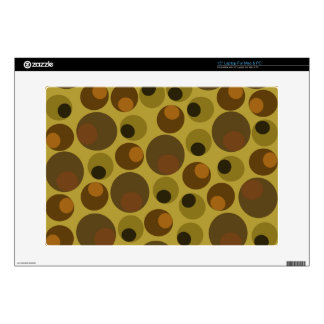 Funky Brown dots Laptop Decals