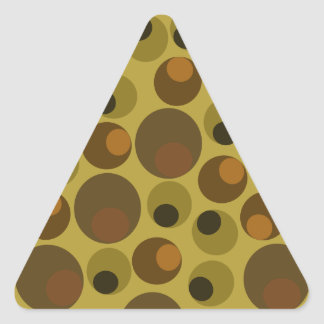 Funky Brown dots Triangle Sticker