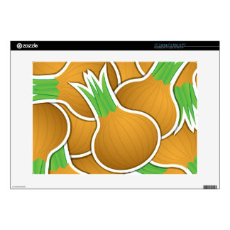 """Funky brown onions 15"""" laptop decal"""