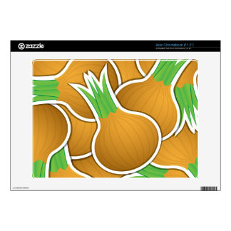 Funky brown onions acer chromebook decal