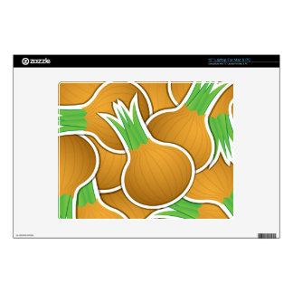 """Funky brown onions decals for 12"""" laptops"""