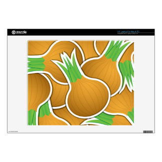 Funky brown onions decals for laptops