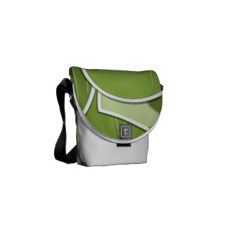 Funky brussel sprout courier bag