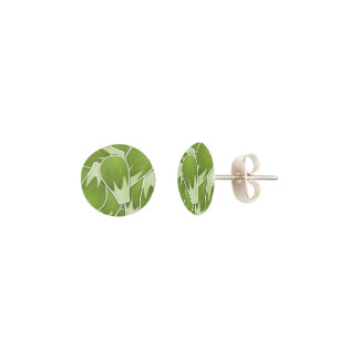 Funky brussel sprout earrings