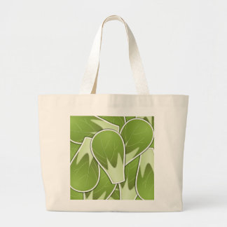 Funky brussel sprout large tote bag