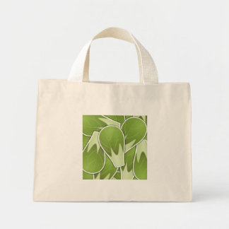 Funky brussel sprout mini tote bag