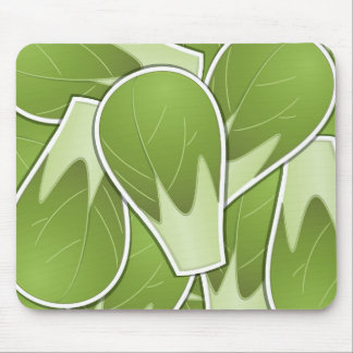 Funky brussel sprout mouse pad