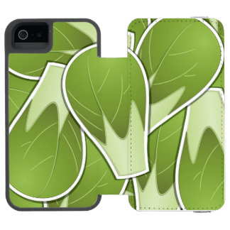 Funky brussel sprout wallet case for iPhone SE/5/5s