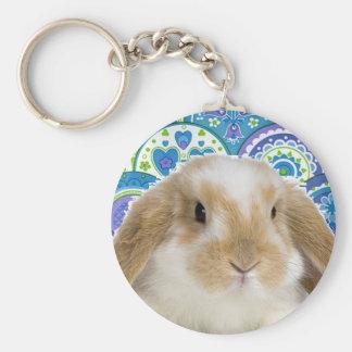 Funky Bunny Basic Round Button Keychain