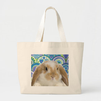Funky Bunny Large Tote Bag