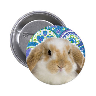 Funky Bunny Pinback Button