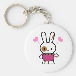 Funky Bunny Valentine Tees and Gifts Keychain