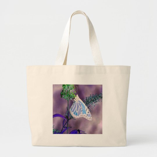 Funky Butterfly Large Tote Bag