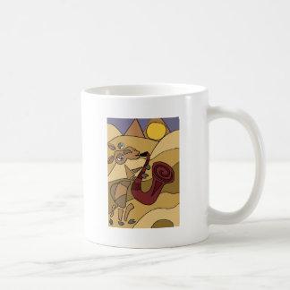 Funky Camel Playing Saxophone Coffee Mug