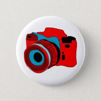 Funky camera graphic illustration button