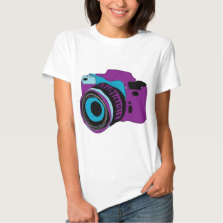 Funky camera graphic illustration shirt