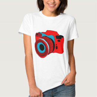 Funky camera graphic illustration tee shirt