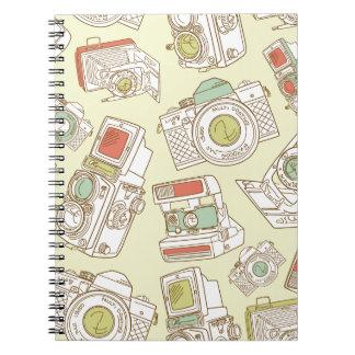 funky cameras spiral notebooks
