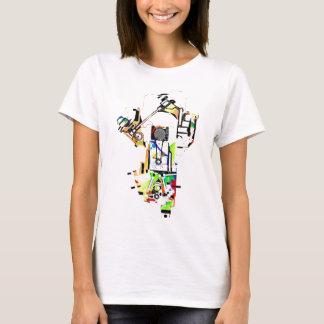 funky car engine t-shirt