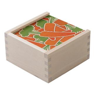 Funky carrot wooden keepsake box