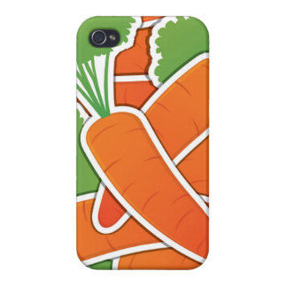 Funky carrots! iPhone 4/4S case