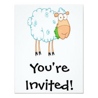 funky cartoon white sheep card