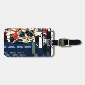Funky Cat Abstract Bag Tag