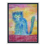 Funky Cat Giant Poster