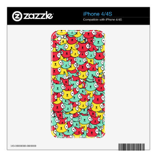 Funky cat pattern iPhone 4S decals