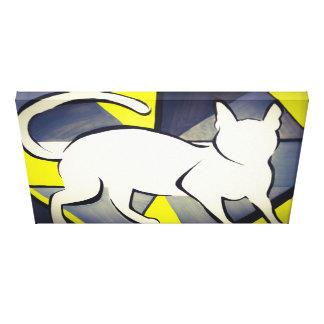 Funky Cat Watercolour Canvas