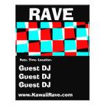 Funky Checkerboard Custom Rave Flyers