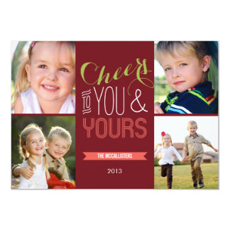 Funky Cheers Holiday Photo Cards
