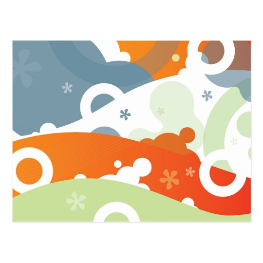 Funky Cherry Abstract Postcard
