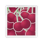 Funky cherry acrylic tray
