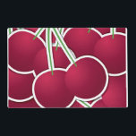 "Funky cherry placemat<br><div class=""desc"">Add some brightness to your day with these funky cherries!</div>"