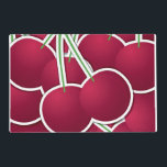 """Funky cherry placemat<br><div class=""""desc"""">Add some brightness to your day with these funky cherries!</div>"""