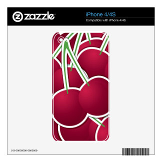 Funky cherry skin for the iPhone 4