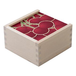 Funky cherry wooden keepsake box