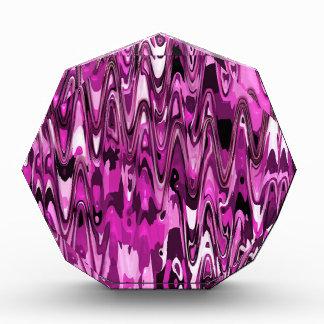 funky chevron hot pink (C) Acrylic Award