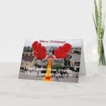 Funky Chicken Christmas Greeting Card! Holiday Card
