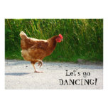 Funky Chicken - Let's Go Dancing! Custom Invite