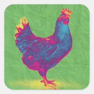 Funky Chicken Square Sticker