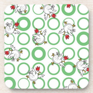 Funky Chickens Drink Coaster